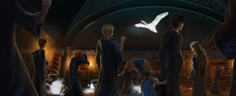 5.22 Harry Potter - Harry Teaching Dumbledores Army Patronus Spell B5C27M1